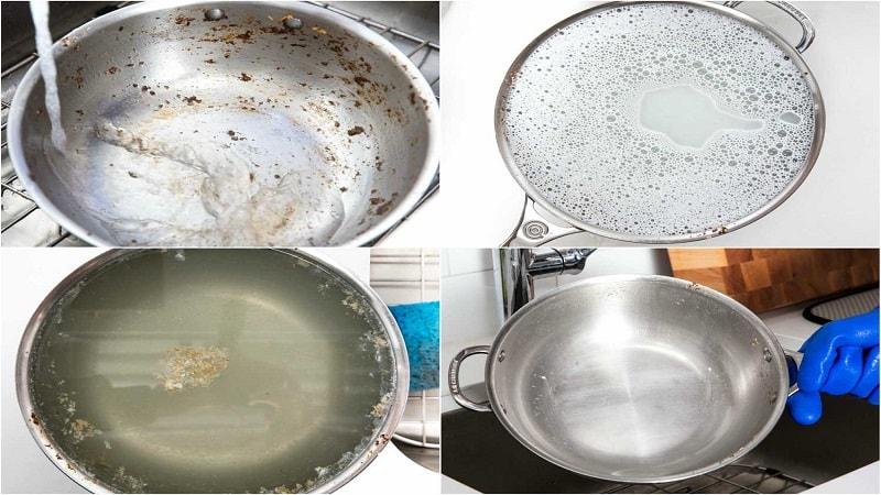 تمیز کردن ظروف استیل