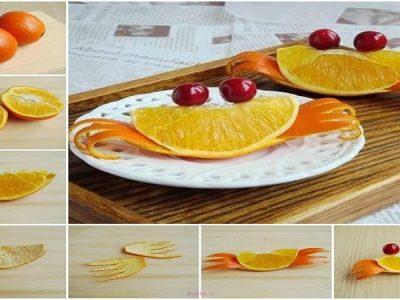 میوه آرایی ساده پرتقال